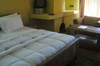 Bed-room-Le Bambou Gorilla Lodge